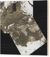 Early Weather Satellite Images Wood Print