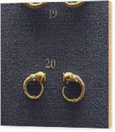 Earrings Wood Print