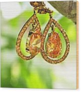 Earrings Wood Print