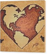 Earth Day Gaia Celebration Digital Art Wood Print