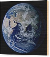 Earth From Space Showing Eastern Wood Print