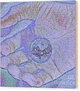 Earth In Hand Wood Print