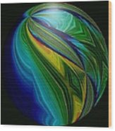 Earth In Motion Wood Print