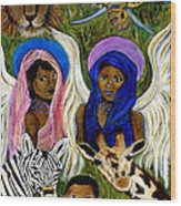 Earthangels Abeni And Adesina From Africa Wood Print