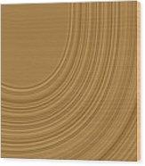 Earthy Swirls Wood Print by Bonnie Bruno