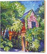 East Bay House In Charleston  Wood Print