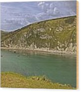 East Lulworth Cove Panorama Wood Print