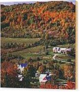 East Orange Village In Fall, Vermont Wood Print