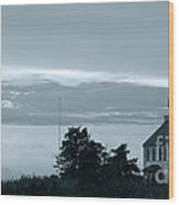 East Point Light At Dusk  Wood Print
