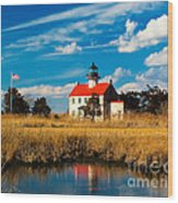East Point Lighthouse Reflection Wood Print