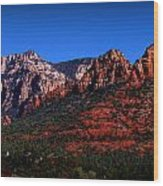 East Sedona Colors Wood Print