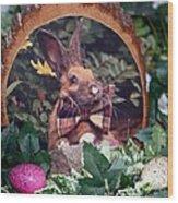Easter Bunny Wood Print