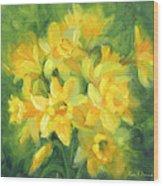 Easter Daffodils Wood Print