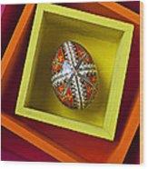Easter Egg In Box Wood Print