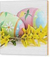 Easter Eggs Wood Print by Elena Elisseeva
