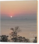 Easter Sunrise In Yorktown Wood Print by Marilyn West