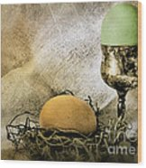 Easter With Patina 2 Wood Print