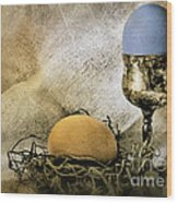 Easter With Patina 3 Wood Print