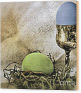 Easter With Patina 6 Wood Print