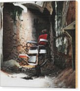 Eastern State Penitentiary - Barber's Chair Wood Print