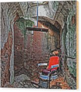 Eastern State Penitentiary Barber Shop Wood Print