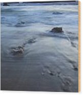 Ebb Stones Wood Print by Mike  Dawson
