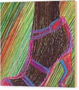 Ebony In High Heels Wood Print by Kenal Louis