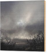 Eclipse Of The Sun Wood Print