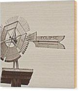 Eclipse Windmill 3578 Wood Print