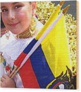 Ecuadorian Pride Wood Print