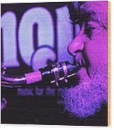 Ed Lynman On Blues Sax Wood Print