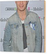 Ed Westwick At Arrivals For T-mobile Wood Print by Everett