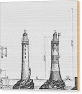 Eddystone Lighthouse Wood Print