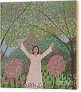 Edelweiss Wood Print
