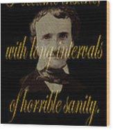 Edgar Allan Poe 2 Wood Print