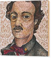 Edgar Allan Poe After The Thompson Daguerreotype Wood Print