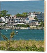 Edgartown Harbor Marthas Vineyard Massachusetts Wood Print
