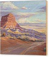 Edge Of The Desert Wood Print