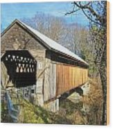 Edgell Covered Bridge Wood Print