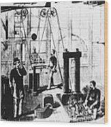 Edisons Electric Generator Wood Print