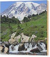 Edith Creek Mt Rainier Wa Wood Print