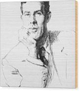 Edmund Clerihew Bentley Wood Print