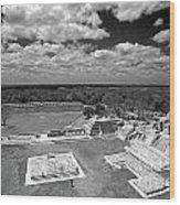 Edzna Ruins Campeche Mexico Wood Print
