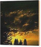 Eerie Evening Wood Print