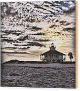 Eerie Lighthouse Wood Print