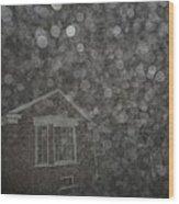 Eerie Spheres In The Night Wood Print
