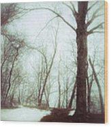 Eerie Winter Woods Wood Print