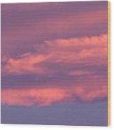 Effect Of Sunrise Wood Print