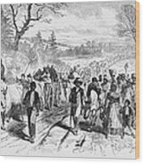 Effects Of Emancipation Proclamation Wood Print by Photo Researchers