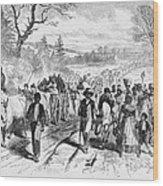 Effects Of Emancipation Proclamation Wood Print